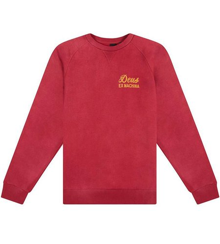 Deus Sunbleached Impermanence Crew Rumba Red