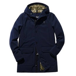 Blauer Trench Lunghi