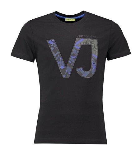 Versace Jeans Slim T-Shirt Print Black