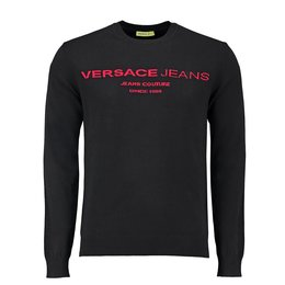Versace Jeans Knitted Sweater Orizontal Intarsio Logo