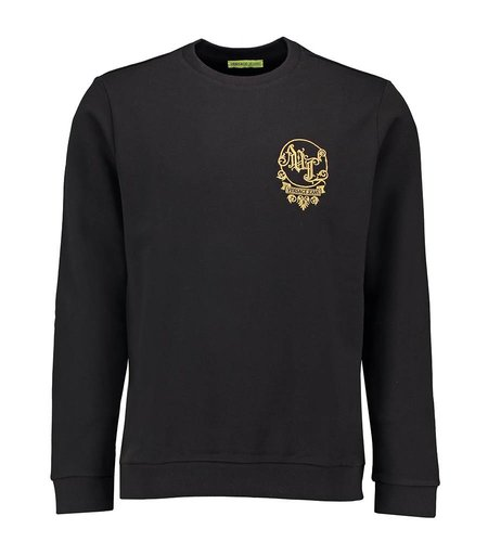 Versace Jeans Light Slim Sweater Big Baroque Black