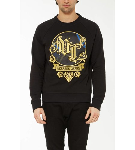 Versace Jeans Light Sweater Big Baroque Black