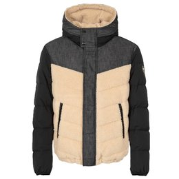 Colmar Denim Down Jacket With Internal Teddy Fur