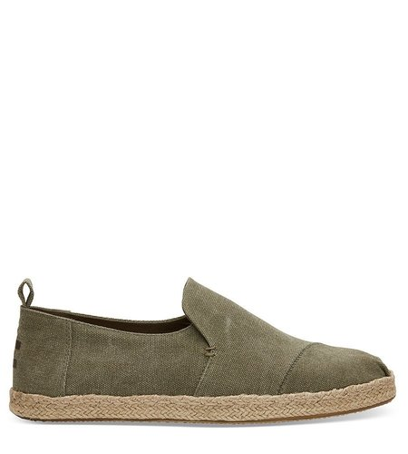 Toms Deconstructed Alpargata Rope Olive