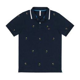 SUN68 Polo Full Embrodery