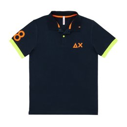 SUN68 Polo Patch Fluo