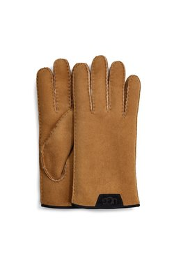 UGG  Shearling Glove Leather Trim