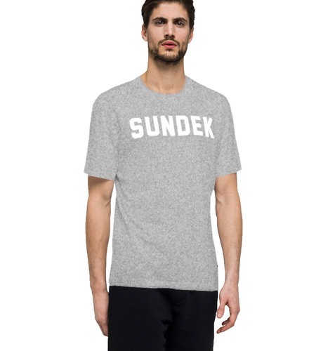 Sundek T-Shirt Writing Grey Melange