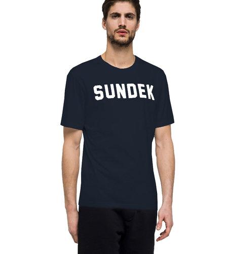 Sundek T-Shirt Writing Navy