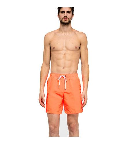 """Sundek Swimshort Elastic Waist 16"""" Fluo Orange"""