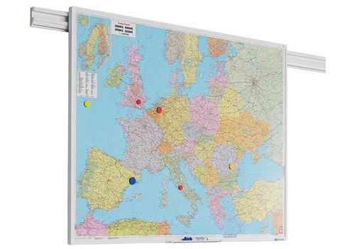 Kaart Europa met PartnerLine profiel