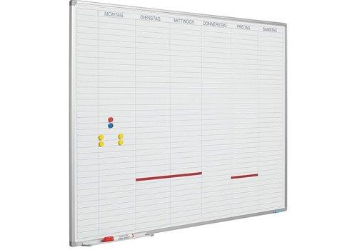 Planbord met 6 werkdagen met Softline profiel