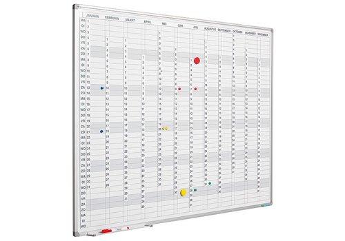 Planbord jaarplanner cijferstrips en stroken en Softline profiel