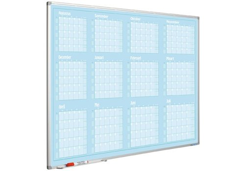 Planbord Jaarplanner jan. - dec.  Softline profiel