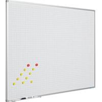 thumb-Whiteboard Geruit wit 2 x 2 cm. (1x1)-1