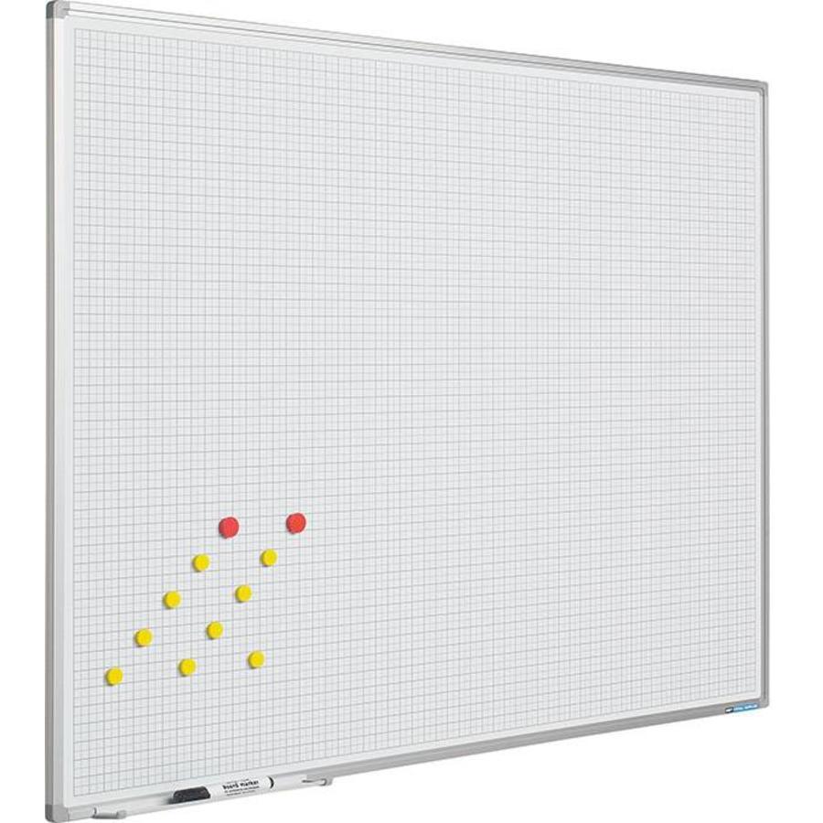 Whiteboard Geruit wit 2 x 2 cm. (1x1)-1