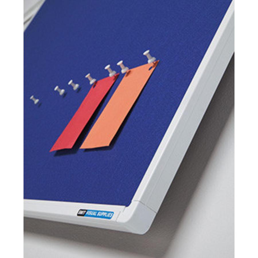 Prikbord met blauw vilt met Partnerline profiel-2