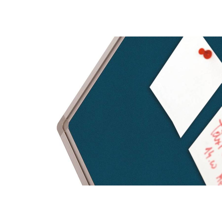 Prikbord Bulletin Blauw Kurklinoleum-3