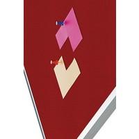 thumb-Prikbord Bulletin Rood Kurklinoleum-2