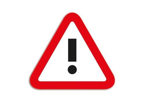 Magneetfolie Symbool Attentie rood-wit