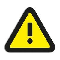 Magneetfolie Symbool Attention
