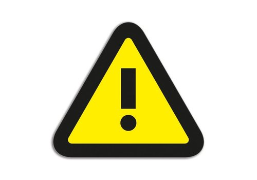 Magneetfolie Symbool Attentie geel-zwart