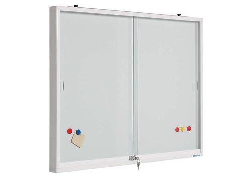 Muurvitrine plexiglas deuren en whiteboard