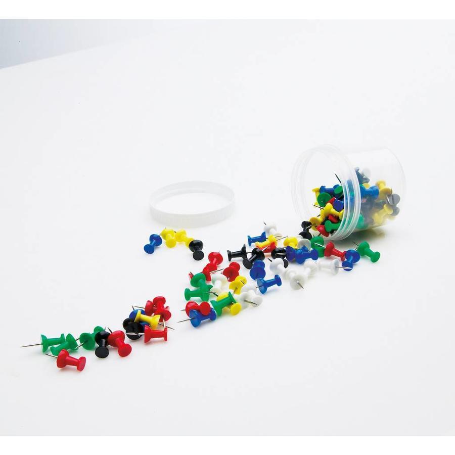 Prikbord Pushpins in diverse kleuren-1