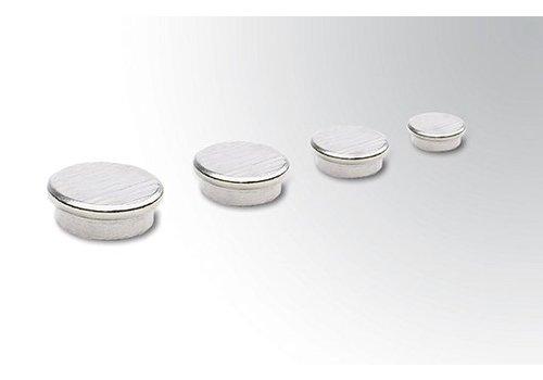 Extra sterke zilverkleurige magneten per 10 stuks