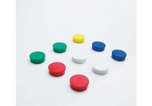 Sterke ronde magnum magneten 6 kleuren per 10 stuks
