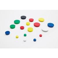 Ronde memo magneten,  in 4 diameters en 6 kleuren