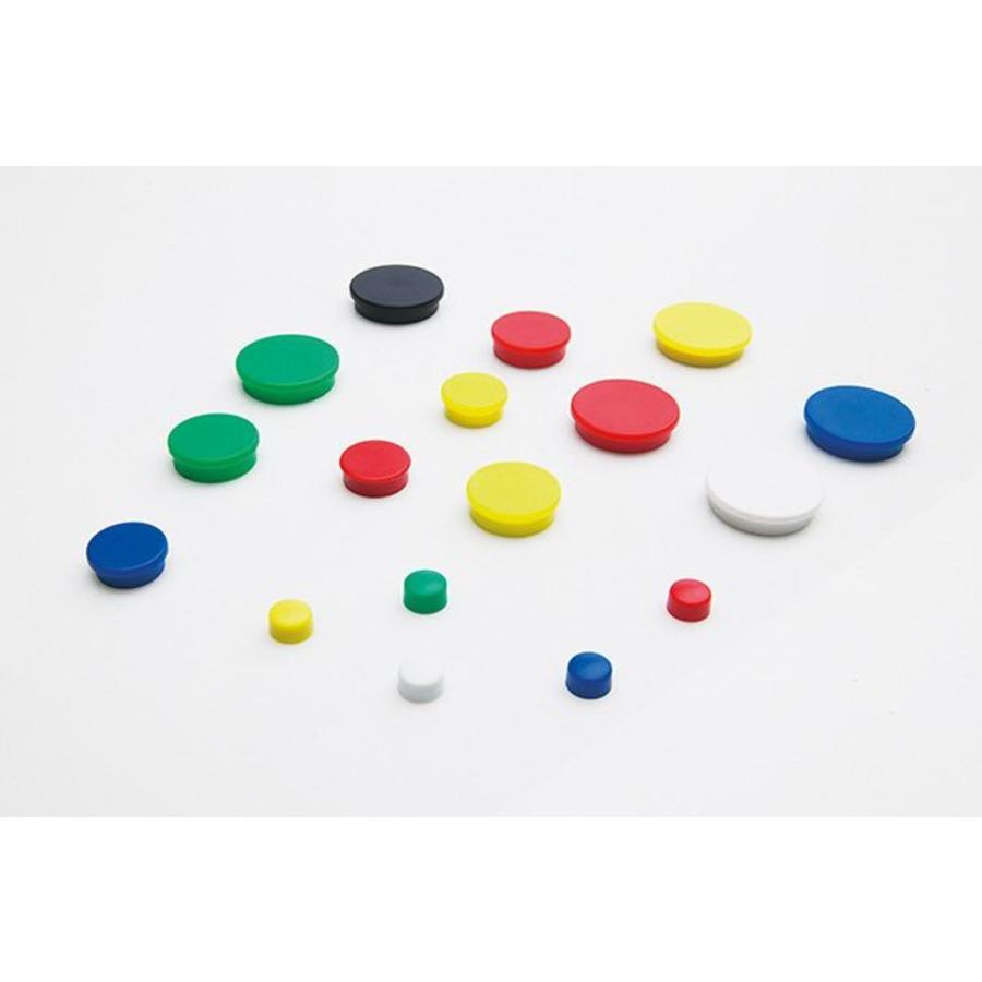 Ronde memo magneten,  in 4 diameters en 6 kleuren-1