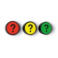 Impressie magneet Vraagteken set van 5 stuks