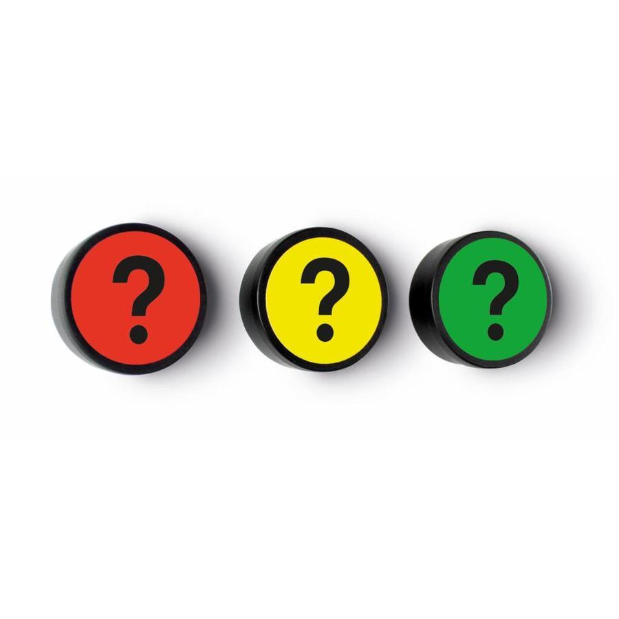 Impressie magneet Vraagteken set van 5 stuks-1