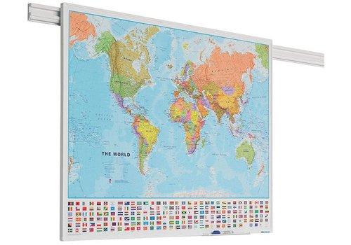 Wereldkaart met PartnerLine profiel