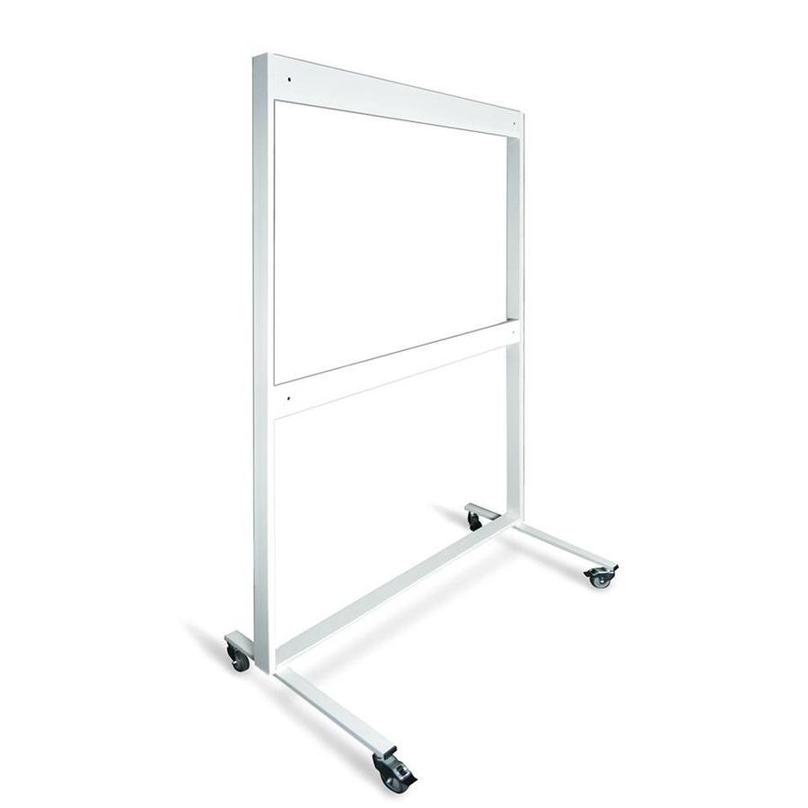 Verrijdbaar wit metalen onderstel voor drie-,  en vijfvlaks bord-1