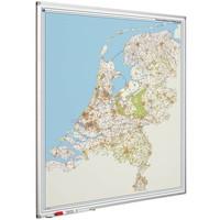 Postcodekaart Nederland met Softline profiel 130 x 110 cm.