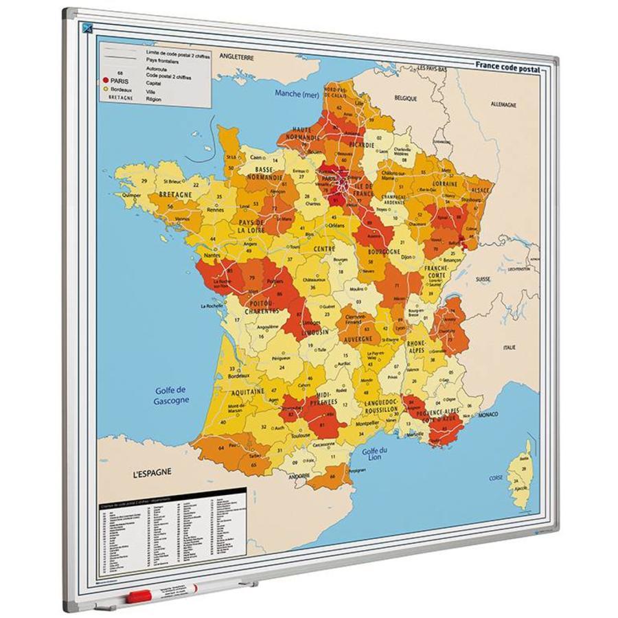 Postcodekaart van Frankrijk-1