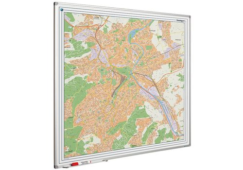Plattegrond van Stuttgart