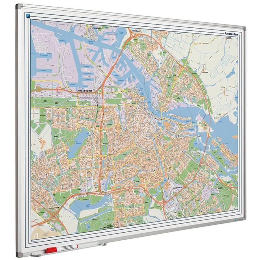 Plattegrond van Amsterdam op whiteboard-1