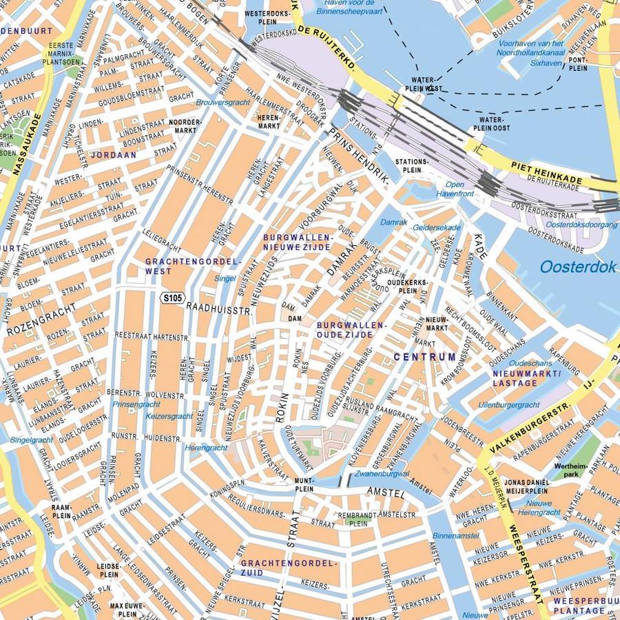 Plattegrond van Amsterdam op whiteboard-2