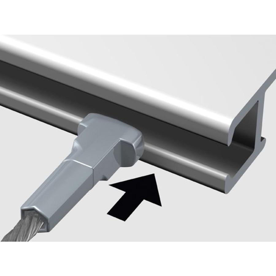 Staaldraad 2 mm. met Twister-3