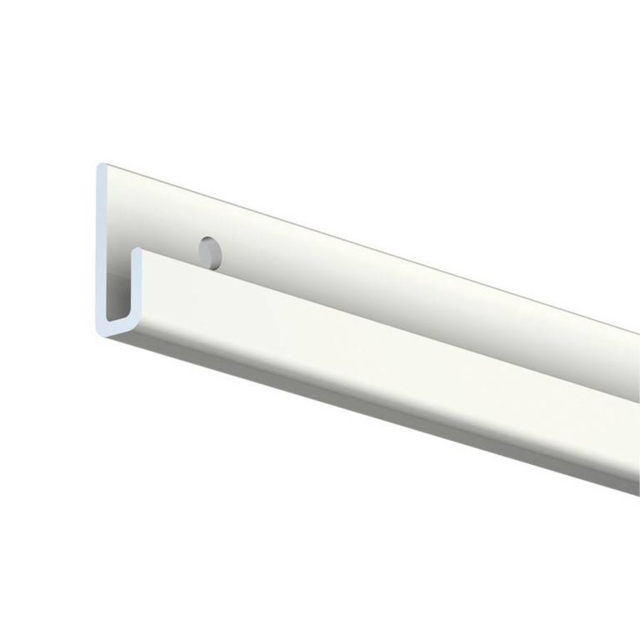De Classic Rail+ in aluminium uitvoering is een schilderij ophangsysteem wat belastbaar is tot 100 kg/m.  Voor het zeer regelmatig wisselen van kunstwerken: de galerie rails-1
