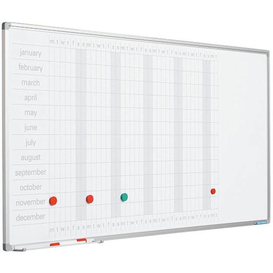 Planbord Jaarplanner weken horizontaal en maanden verticaal-1