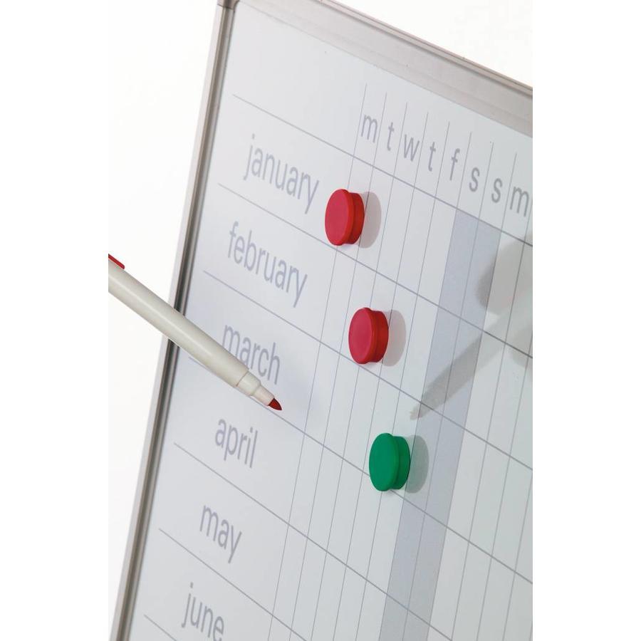 Planbord Jaarplanner weken horizontaal en maanden verticaal-2