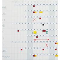 Horizontale cijferstrips voor jaarplanner