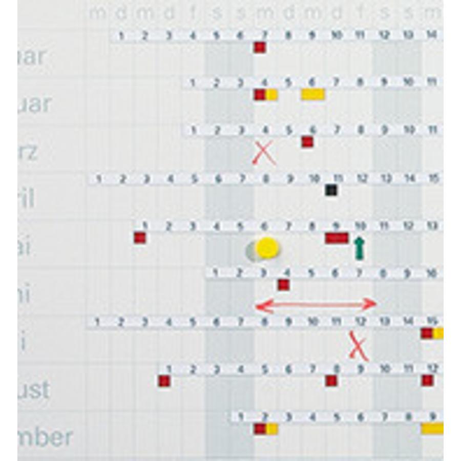 Horizontale cijferstrips voor jaarplanner-1