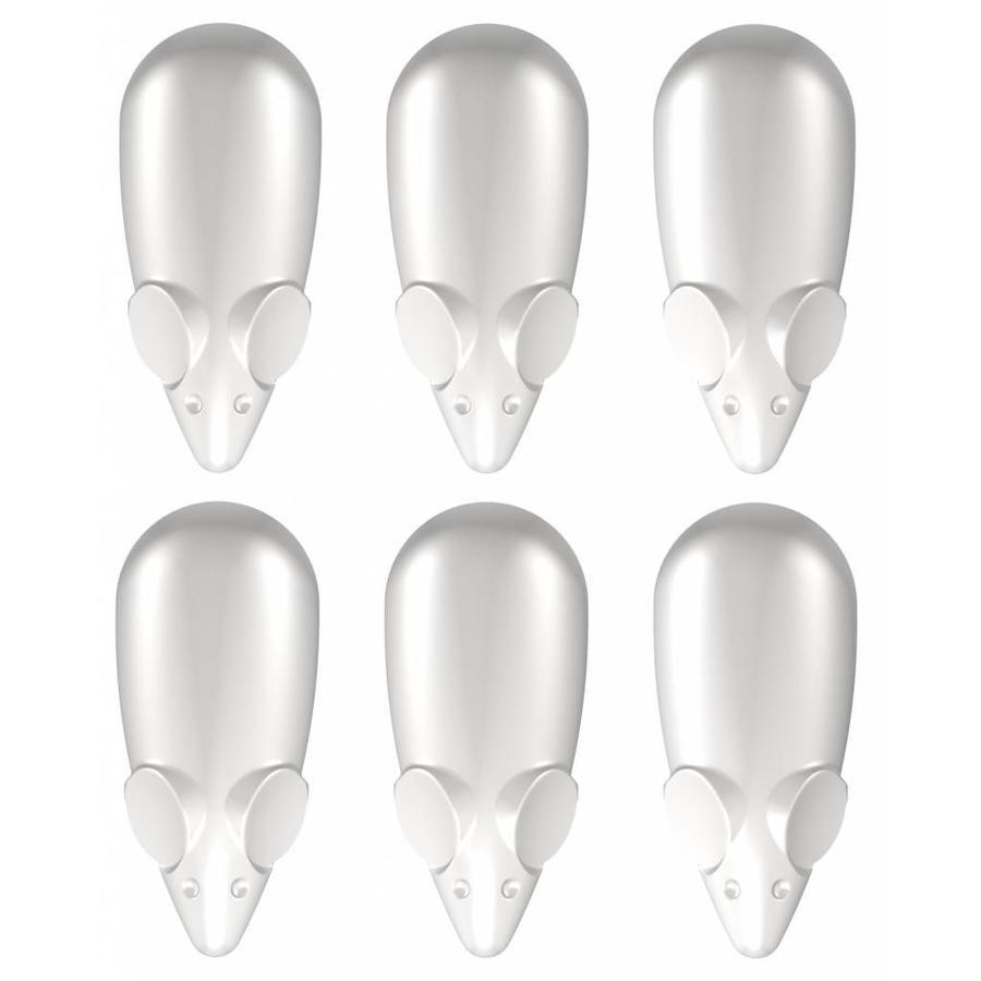 Picture Mouse Magneten wit 6 stuks-1