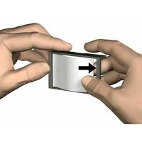 thumb-Artiteq Info Rail Me kleur wit. De info rail voorzien van een naam clip , speciaal voor scholen-4