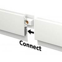 thumb-Artiteq Info Rail kleur wit. voor het flexibel ophangen van tekeningen, orders etc. voor thuis, op school en op het werk.-4
